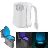 Fühler-Toiletten-Zeichen-Toilette-Toiletten-Filterglocke-Kappen-Licht des Badezimmer-LED