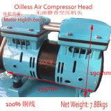 600W kleiner ruhiger leiser Oilless Luftverdichter-Kopf