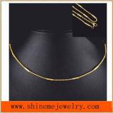 Homens e mulheres Titanium de venda quentes da forma da colar do aço inoxidável com chapeamento do vácuo (SSNL2632)