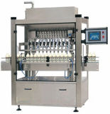 Máquina de rellenar linear líquida automática llena con la máquina de etiquetado que capsula