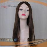 Parrucca superiore di seta delle donne del Brown di colore di Remy dei capelli pieni del Virgin