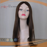 Volles Brown-Farbe Remy Jungfrau-Haar-Silk Spitzenfrauen-Perücke