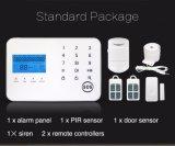 Alarma de ladrón de la seguridad con el teléfono elegante de PSTN&GSM teledirigido