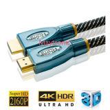 Câble à grande vitesse de l'Ethernet HDMI 1.4 de support