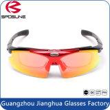 Mejor venta al por mayor Full Frame Ce moto de la bici de la suciedad que conduce las gafas de seguridad Gafas de sol baratas de la alta calidad con sistema completo