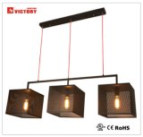 3 Lampe de feux de lustre métallique modernes, simples d'éclairage de la poignée de commande