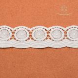 Merletto nuziale del ciglio del merletto svizzero bianco del voile