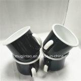 Ustensiles de cuisine de l'émail blanc Mug Tin Cup Camping Gérer l'impression