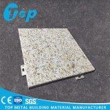 Acabado de piedra de PVDF revestimiento de aluminio combinado de instrumentos de la pared interior