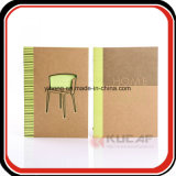 Costurado & Cola Notebook em papel kraft com tampa de Corte