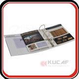 Kundenspezifische Pappring-Mappe des Drucken-A4 mit Index u. Teiler