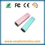 Único diseño 2600mAh viajes externos Mobile energía Banks Puerto USB para todos los teléfonos móviles Cargador portátil