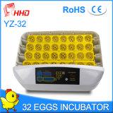 Incubateur automatique d'oeufs de poulet de Hhd de modèle neuf à vendre Yz-32