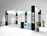 cabine d'étalage d'exposition d'aluminium de 3X6m avec les stands de tour et le mur spiralés de drapeau de tissu