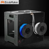 Impresora dual de la pista 3D de Ecubmaker con diseño único
