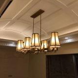 Lámpara pendiente del pasillo de cobre amarillo antiguo moderno para el proyecto del hotel