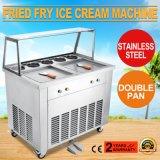 máquina frita fabricante del helado del rodillo del helado de los compartimientos 2-Pan 5 para el yogur