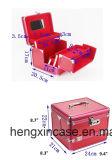 بنية حالة مستحضر تجميل صندوق محترفة ألومنيوم قابل للإقفال مجوهرات حالة