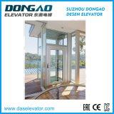 Elevador panorâmico de observação de vidro com moldura de aço inoxidável