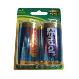 батарея Lr20 d карточки волдыря 2PCS 1.5V алкалическая