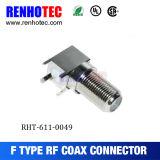 Connecteur coaxial femelle R/a de la soudure F d'appareils de carte