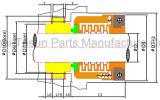 Mechanische Verbinding (vervang het Type van John Crane 10r 10t)