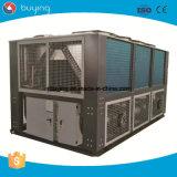 ar industrial refrigerador de água de refrigeração do parafuso 150HP para a fibra de grampo de poliéster