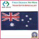 마술 테이프 또는 위에 벨크로 뒤를 가진 호주 깃발 자수 패치