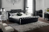 寝室の家具の革柔らかいベッド(SBT-5824)