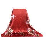 Grande sciarpe quadrata di seta 110 * 110cm per le donne