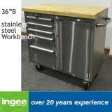 36inのステンレス鋼1つのドアの仕事台