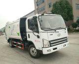 FAW 5 tonnes d'ordures de la compresse 5 de Cbm de compacteur de camion d'ordures