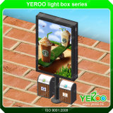 屋外の通りの倍はバックリットの太陽広告の表示LEDライトボックスゴミ箱と味方した