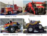 Camión inflable inflable vendedor superior del curso de obstáculo del carro para los cabritos y los adultos