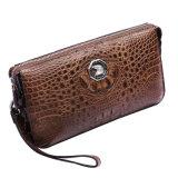 Sacchetto di frizione di lusso del Wristlet del coccodrillo del sacchetto di marca del cuoio genuino degli uomini