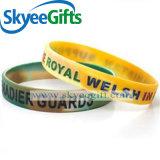 Wristband del silicone di colore del braccialetto del silicone stampato marchio