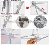 Messeen-Aluminiumfeld knallen oben Standplatz-Hintergrund-Fahnen-Bildschirmanzeige