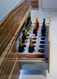 De moderne Eindigende Keukenkast van de Deur van de Melamine van het Ontwerp met Vlakke Rand