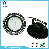 La lampe industrielle IP65 d'UFO Highbay imperméabilisent la lumière élevée de compartiment de 150W DEL
