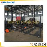 Sistema simples do estacionamento do carro de dois assoalhos conduzido por Cilindro e por motor