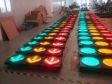 En12368 Approuvé Feu de signalisation clignotant LED à haut flux de 12 pouces / signal de circulation avec lentille de Cobweb claire