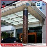 Ideabond特別なシリーズ4mm石造りの一見の柱アルミニウムクラッディング