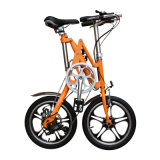 16 velocidad de la aleación de aluminio de la pulgada 7 una bici plegable Yzbs-7-16 del segundo