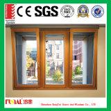 Окно наклона и поворота деревянного зерна алюминиевое