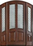 Porta de mogno de vidro dobro Home do ferro feito de entrada dianteira (GSP1-037)