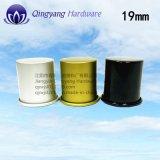 100mlオリーブ油のびんのための光沢がある黒いアルミニウムプラスチックねじ帽子