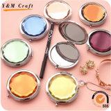 Maquiagem de moda Custom Decorative Diamond Metal Compact Mirror