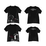 La configuration 100% de dessin animé a peigné les T-shirts estampés par coutume d'impression de Digitals de coton de Ringspun