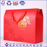 De Giften die van de Kleurendruk van de douane De Zakken van het Document van het Vakje met het Handvat van de Zijde verpakken