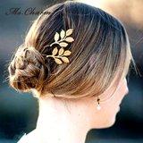 O ouro chapeado sae de acessórios nupciais do cabelo da jóia da forma dos pinos de cabelo